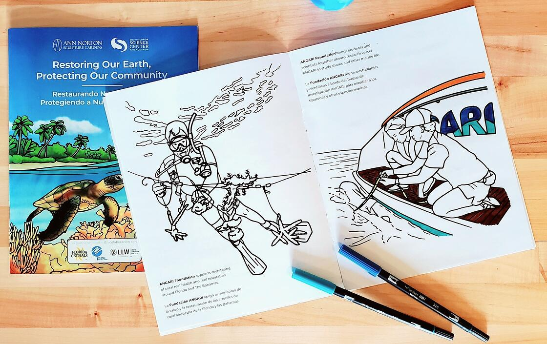 Restoring Our Earth, Protecting Our Community coloring book