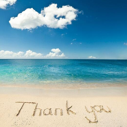 Thank you beach image